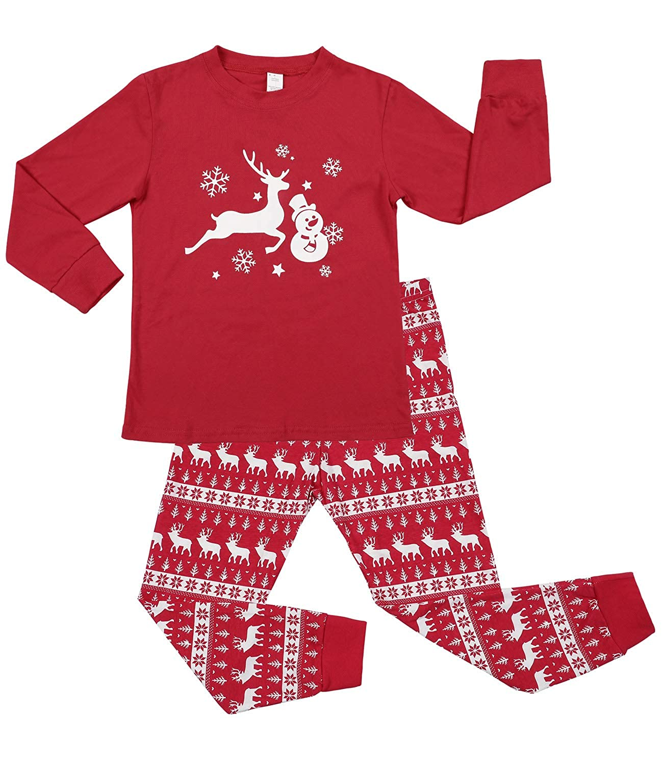 Sociala Kid's Pajamas for Boys Girls 100% Cotton Christmas Pjs Sleepwear 2-7