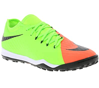 Nike Men's HyperVenomX Finale II TF Turf Soccer Shoes - Electric Green, Hyper  Orange -