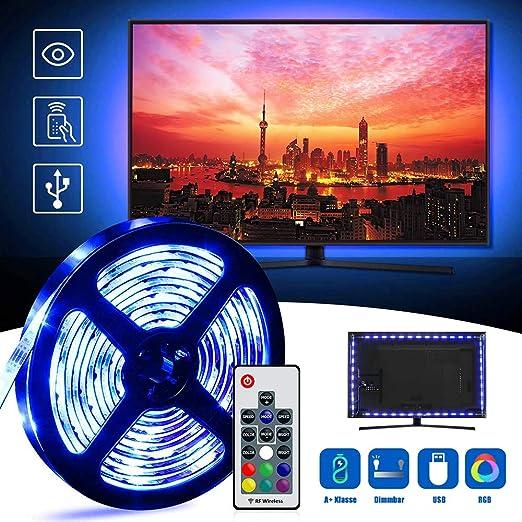 Casa tobbi TV Fondo, regleta de televisor 2 Metros RGB Tira LED 4 ...