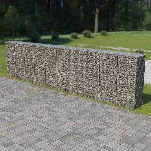 Muro de gaviones con Cubiertas Acero galvanizado 600x50x150 cmCasa ...