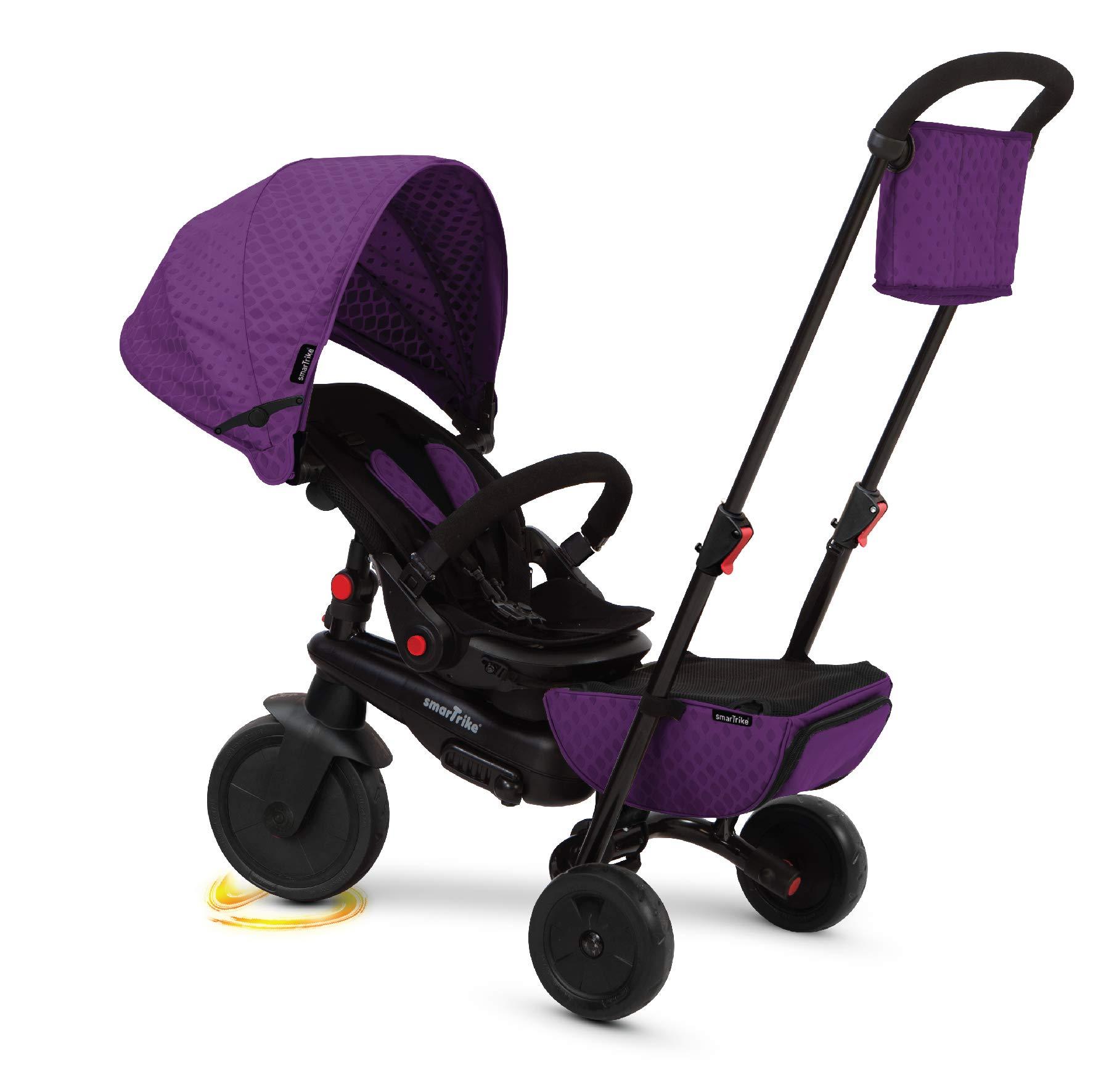 smarTrike 5500100 Smartfold 700 Folding Baby Tricycle, Purple