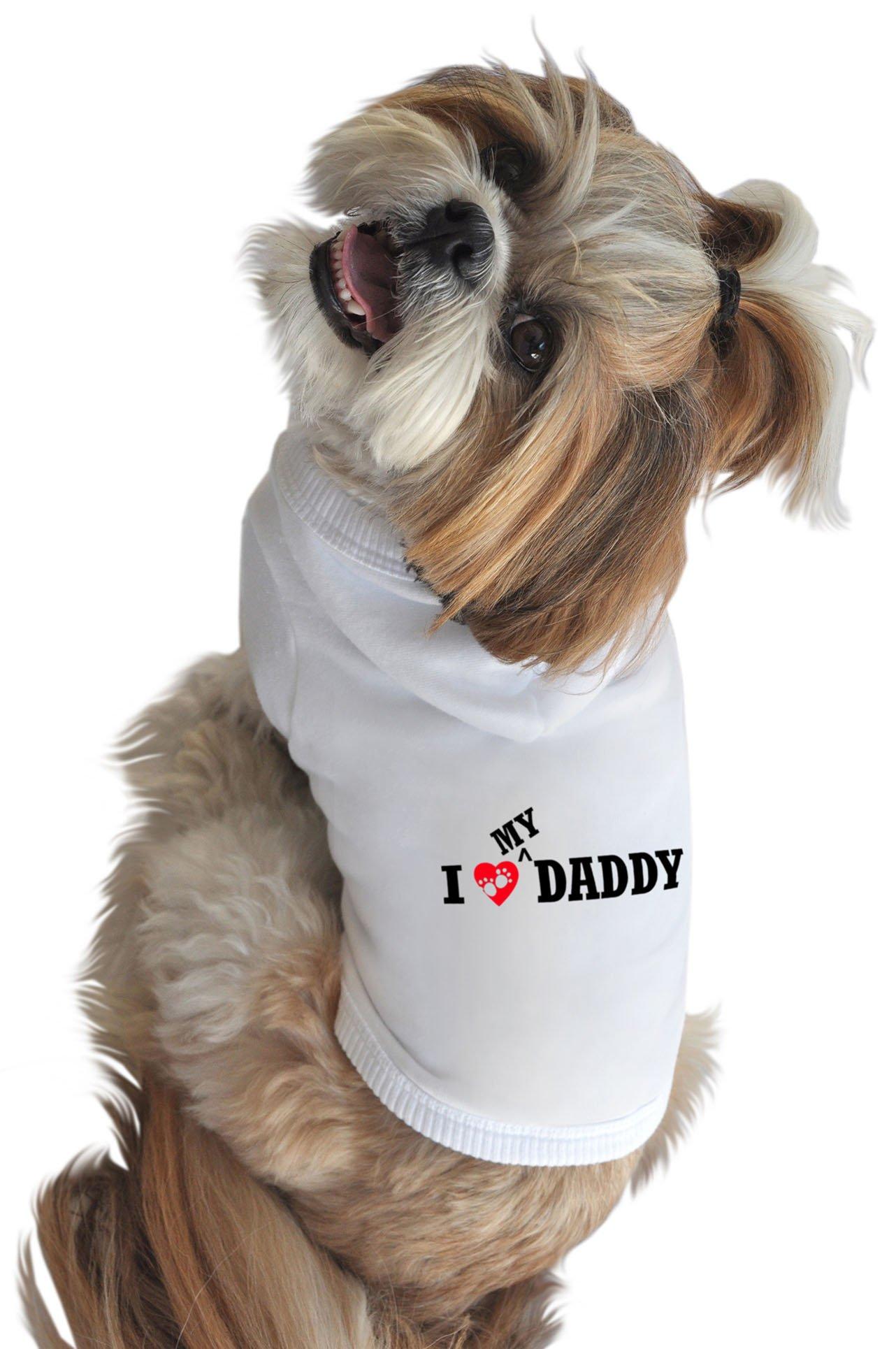 Ruff Ruff and Meow Dog Hoodie, I Love My Daddy, White, Medium by Ruff Ruff and Meow (Image #1)
