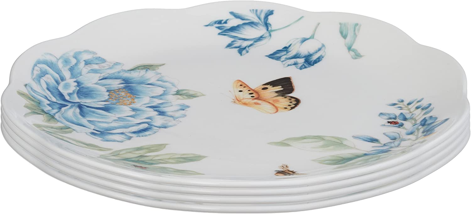 Lenox Butterfly Meadow Assorted Blue Dessert Plates, Set of 4, White - 833416