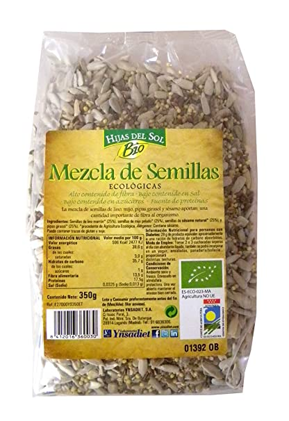 Hijas Del Sol Bio Mezcla De 4 Semillas - 350 gr - [Pack de 5