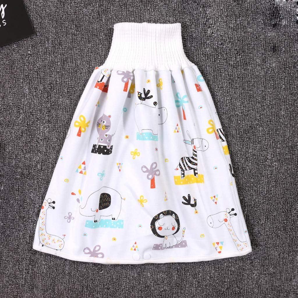 jupe dapprentissage de la propret/é Jupe /à couches pour b/éb/é Pantalon de couche de pot r/éutilisable Jupe de couche-culotte taille haute anti-fuite respirante pour les enfants