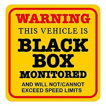 This Vehicle Is Black Box Monitored Warning Car Sticker Insurance