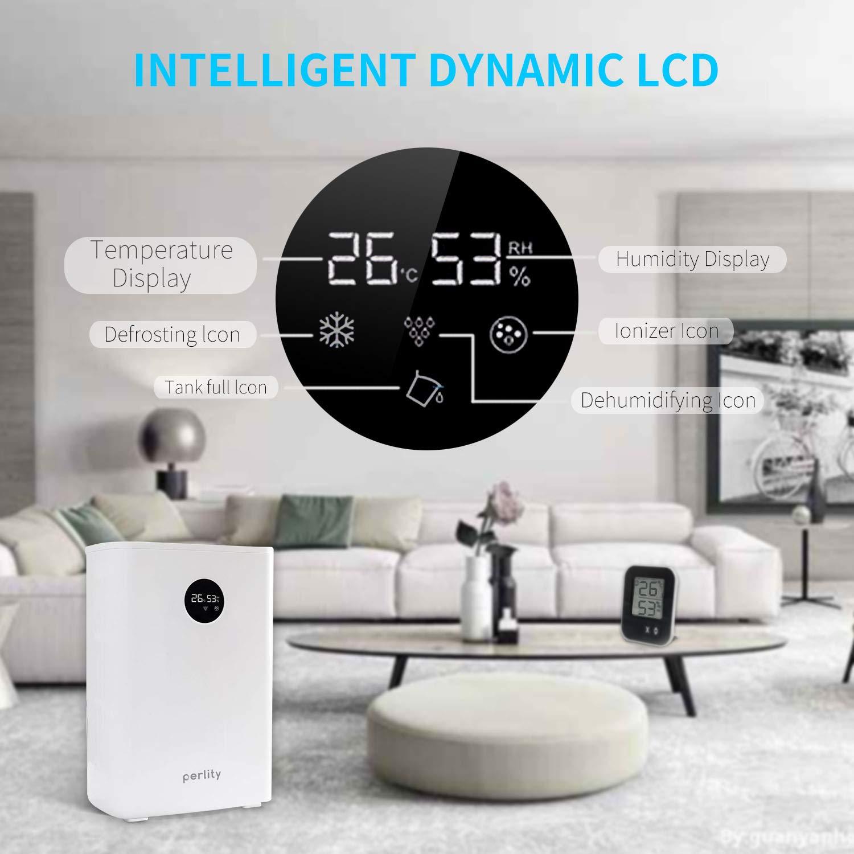 Black Perlity Dehumidifier Pint Dehumidifier Portable Electric Mini Dehumidifier for Bathroom with LCD Generic