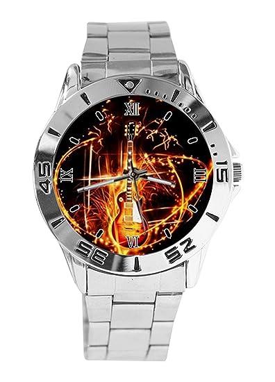 Les Con De Gibson Analógico Paul Diseño Reloj Pulsera Guitarra LAj354Rq