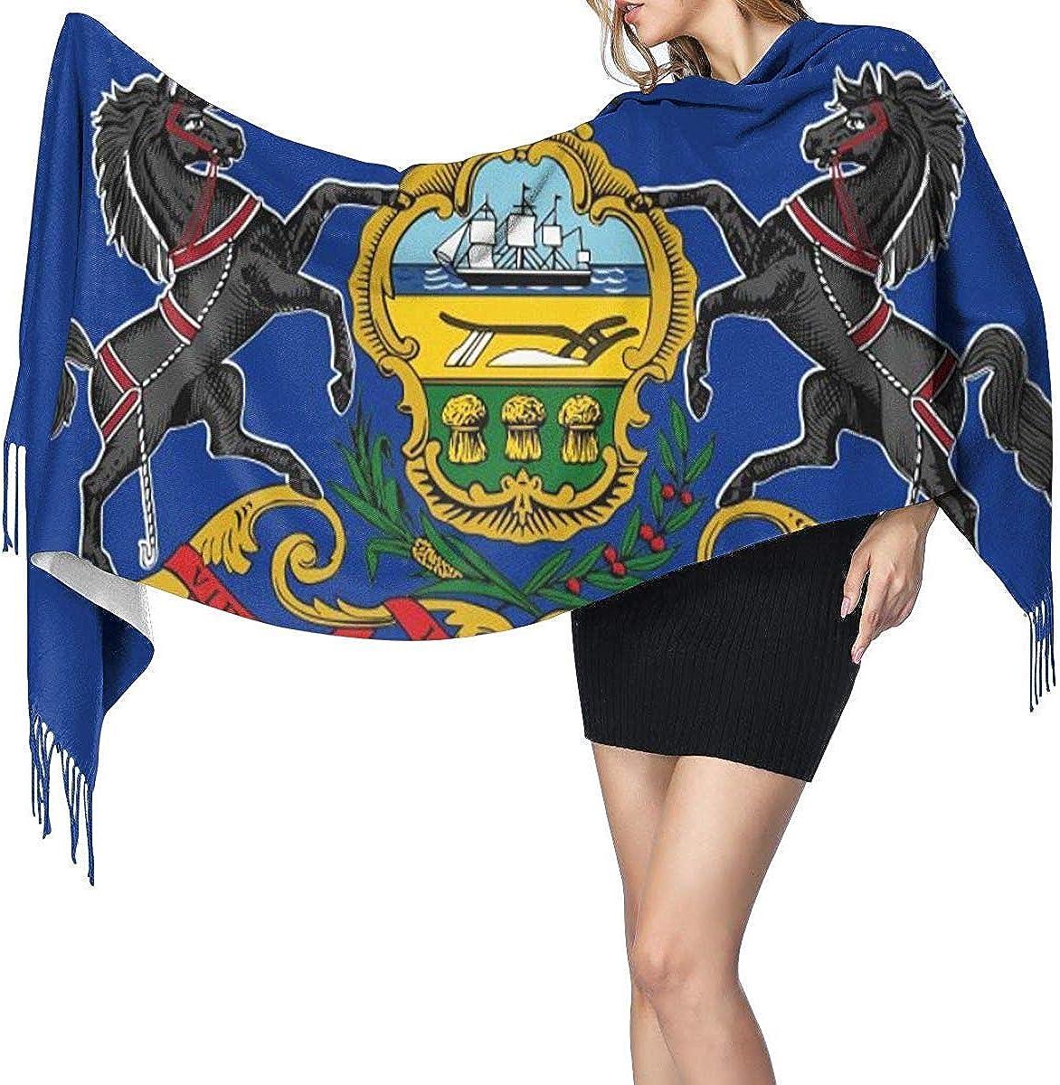 Jerusalem Panorama Early Twentieth Century Womens Fashion Long Shawl Winter Warm Large Scarf Cashmere Scarf