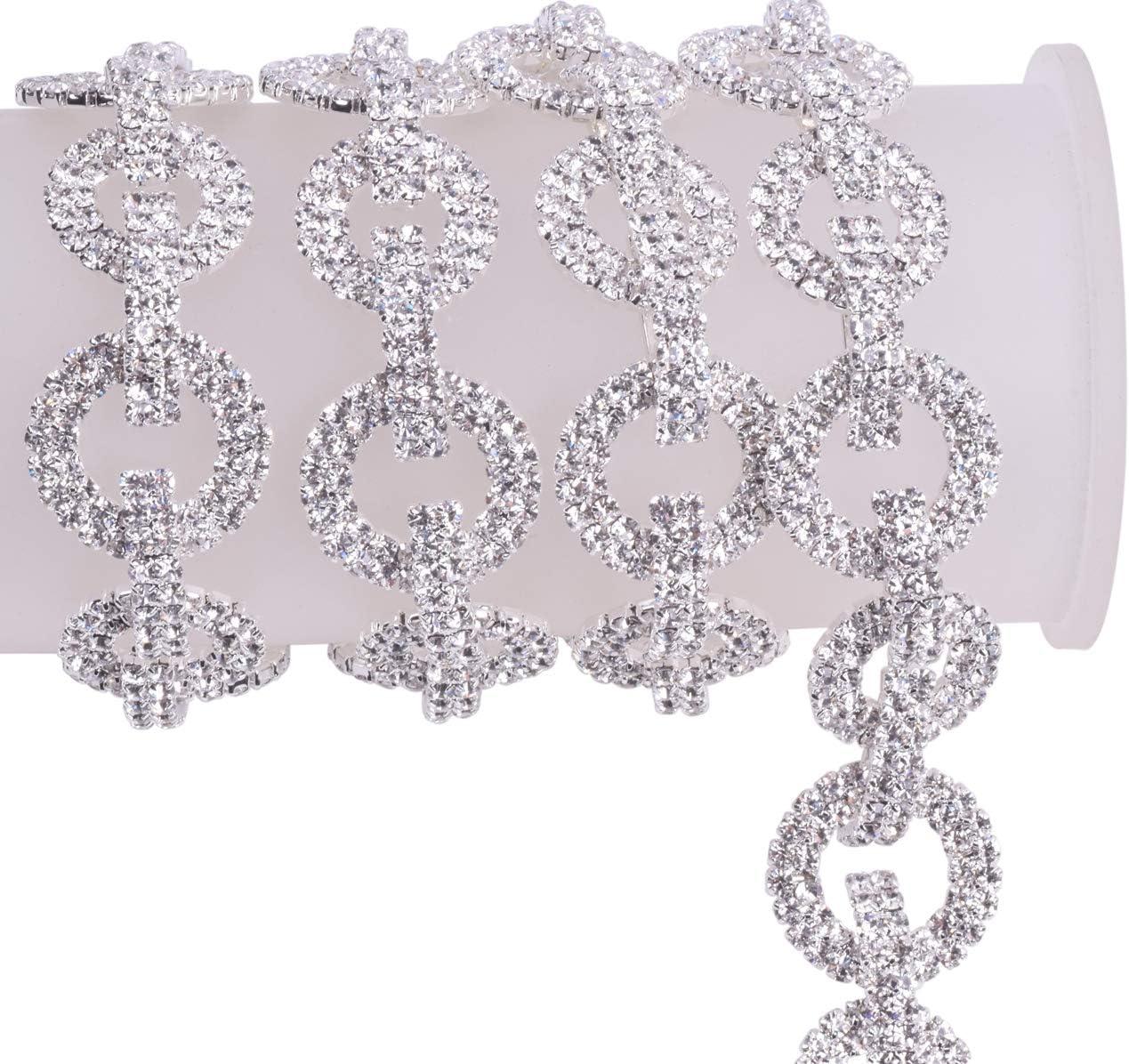 Diamante Trimming Sew or Glue on Wedding 1Yard Rhinestone Chain Crafts