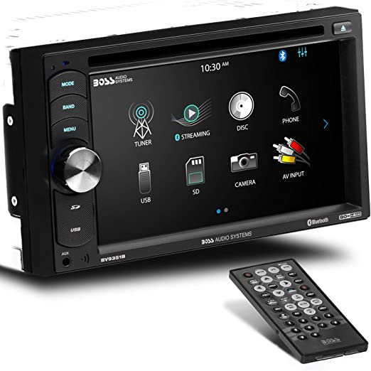 Amazon.com: BOSS Audio Systems BV9351B Car DVD Player - Double Din,  Bluetooth Audio and Calling, 6.2 Inch LCD Touchscreen Monitor, MP3 Player,  CD, DVD, MP3, USB, SD, Auxiliary Input, AM FM RadioAmazon.com