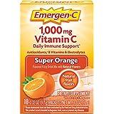 Emergen-C Vitamin C 1000mg Powder (10 Count, Super Orange Flavor), With Antioxidants, B Vitamins And Electrolytes…