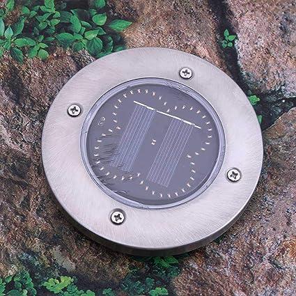 Matefielduk Lámparas de jardín a prueba de agua al aire libre a prueba de agua con luz solar de 50 LED (naranja) - - Amazon.com