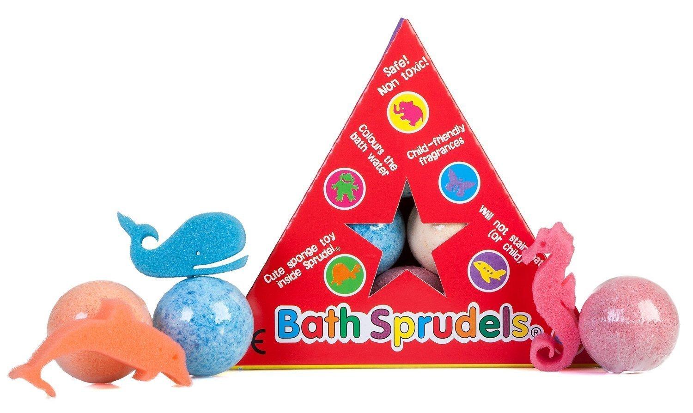 Bath Sprudels Sechs einzelne Schwamm Badebomben The Bean People FM-BP-BBSP