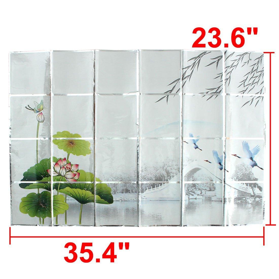 Patrón eDealMax PVC # 1 restaurante de la cocina Agua grasa resistente al aceite Cubierta de pared etiqueta - - Amazon.com