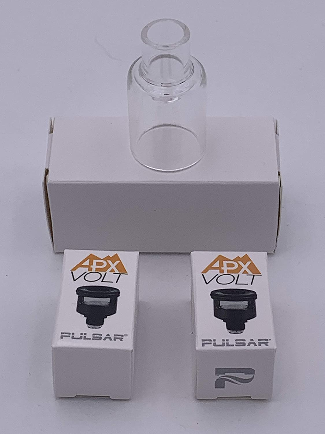 Genuine Pulsar APX Volt Parts Kit Replacement Glass Mouthpiece, Quartz and Ceramic Replacement Heating Elements