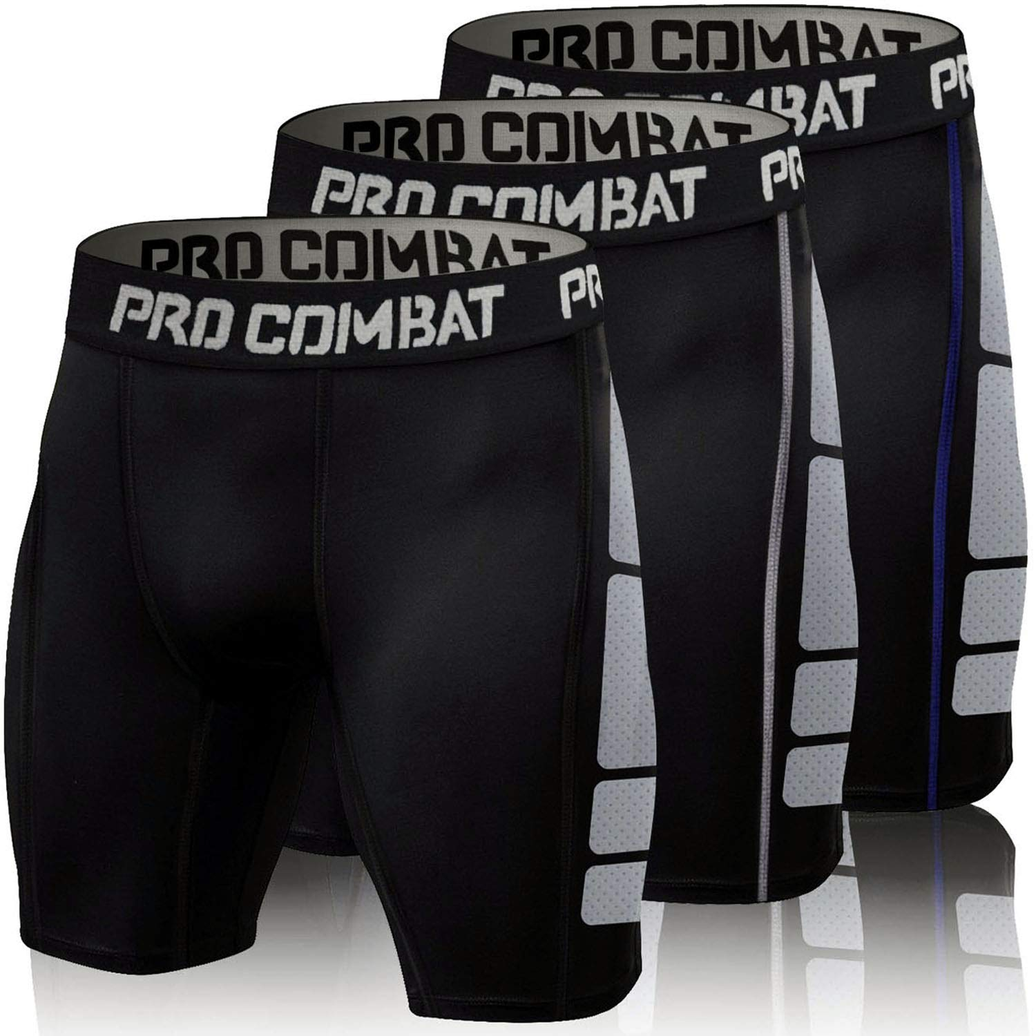 ZMCX Compression Shorts Men 3 Pack Quick Dry Sports Tight Shorts Soft Running Pants for Workouts Gym Training