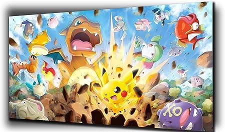 Plush Prints Impression Sur Toile Motif Pokemon Non Encadre 81 X 61 Cm Amazon Fr Bienvenue