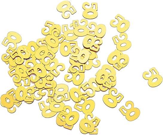 Anniversario Di Matrimonio Emoticon.Amosfun 1200pcs 50th Compleanno Tavolo Coriandoli Per Il 50