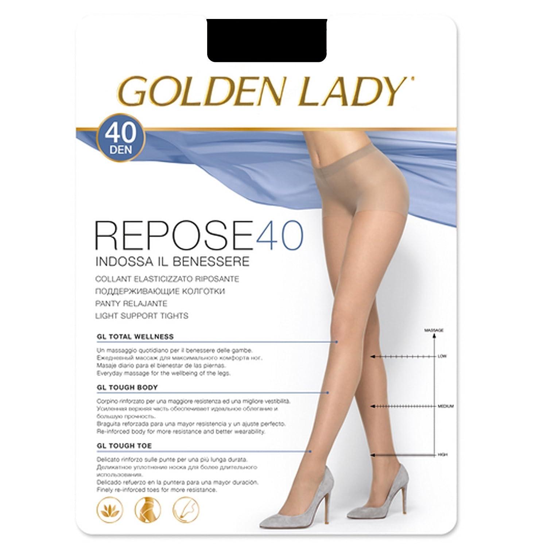 REPOSE COLL.40 DEN NERO TG.XL 36G Golden Lady 9-REPOSE 40-NERO-EG