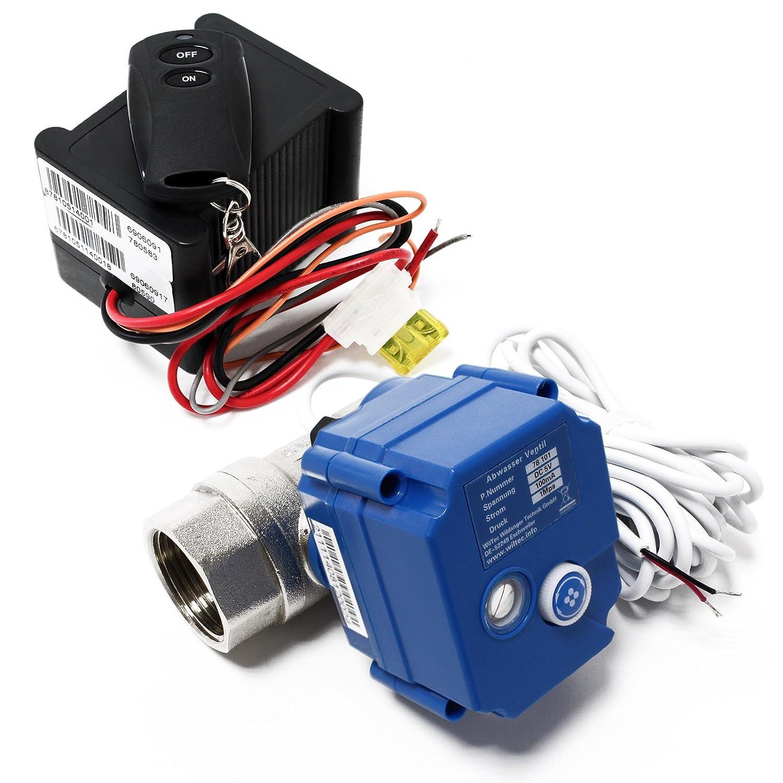 Abwasser Kugelventil Steuerung Funk Fernbedienung Wohnmobile und Wohnwagen WilTec