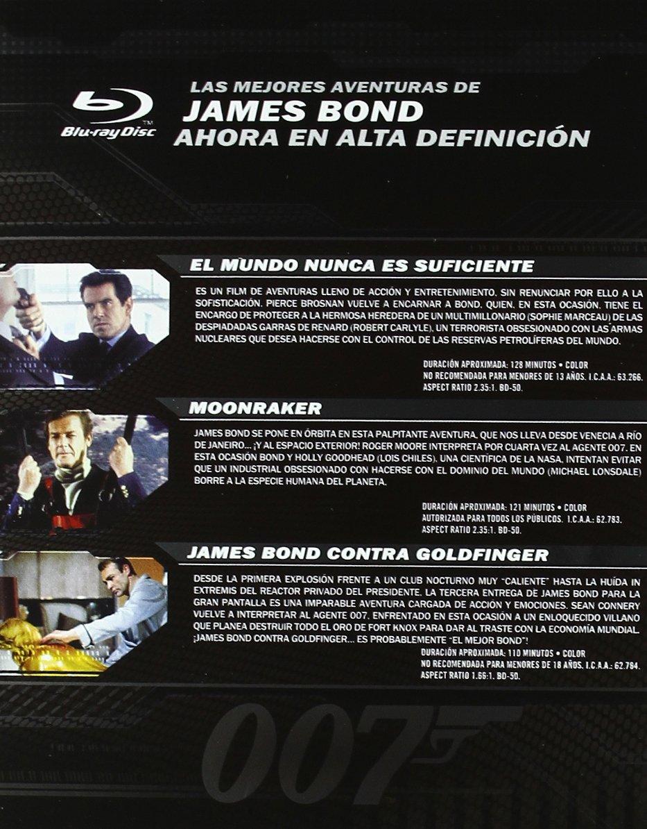 Pack James Bond - Volumen 3 [Blu-ray]: Amazon.es: Sophie Marceau, Pierce Brosnan, Sean Connery, Gert Fröbe, Robert Carlyle, Roger Moore, Michael Lonsdale, ...