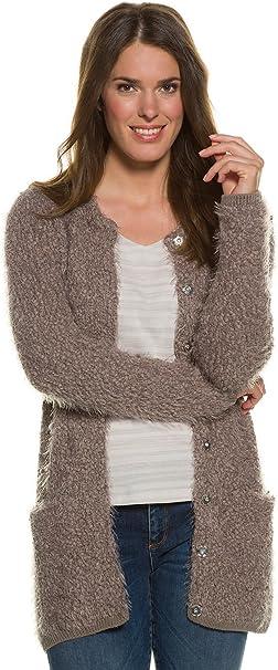 Gina Laura Cardigan offen mit Taschen rot NEU