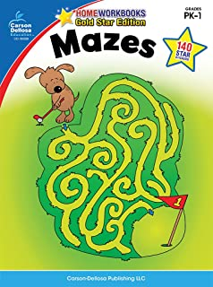 mazes grades pk 1 gold star edition home workbooks