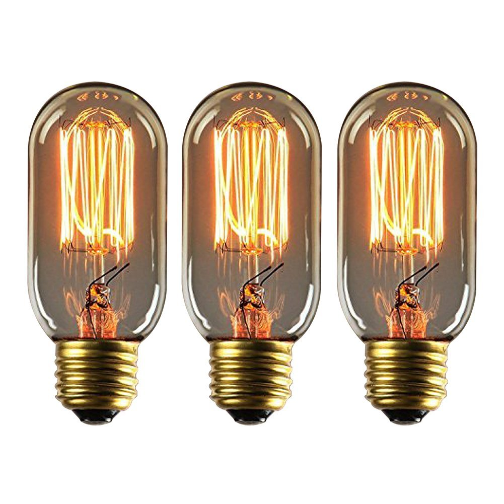 Onepre Pack of 6 Vintage Edison Bulb 40W E27 Screw Retro Filament Light Bulb Dimmable Spiral G80 Globe Style Decorative Edison Light Bulb Warm White Shenzhenshi fanmu shangpin jiaju youxiangongsi