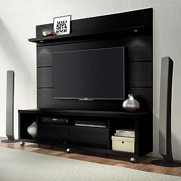 Amazon Com Manhattan Comfort Cabrini Floating Wall Tv Panel 1 8 In Black Matte Electronics