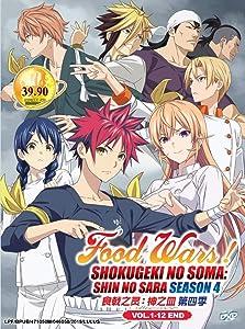 FOOD WARS! SHOKUGEKI NO SOMA : SHIN NO SARA (SEASON 4) - COMPLETE TV SERIES DVD BOX SET ( 1-12 EPISODES )