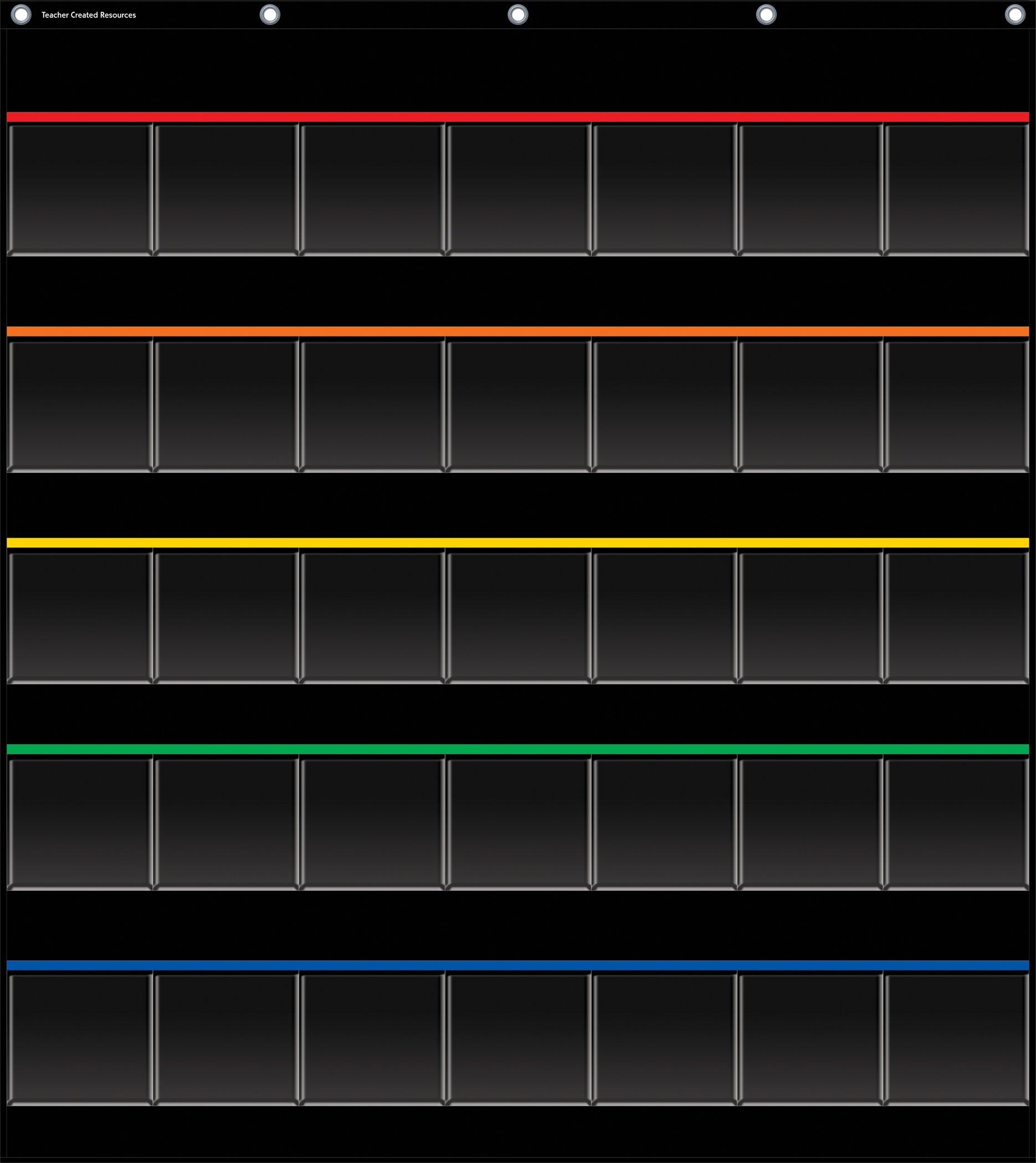 Black Storage Pocket Chart (32.5'' x 36.5'')