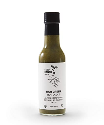 Seed Ranch Flavor Co. Thai Green Hot Sauce With Fresh Lemongrass, Green Chilies, Cilantro & Basil by Seed Ranch Flavor Co.