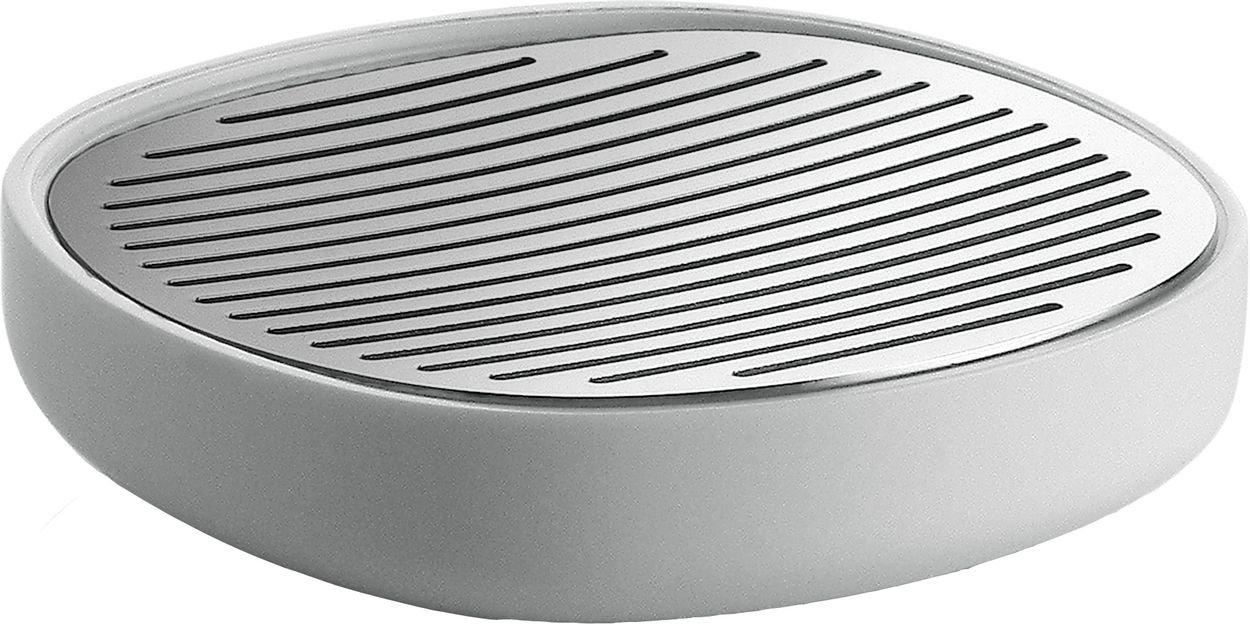 Alessi 11 x 11 x 3 cm Birillo Soap Dish, Grey PL04 DG