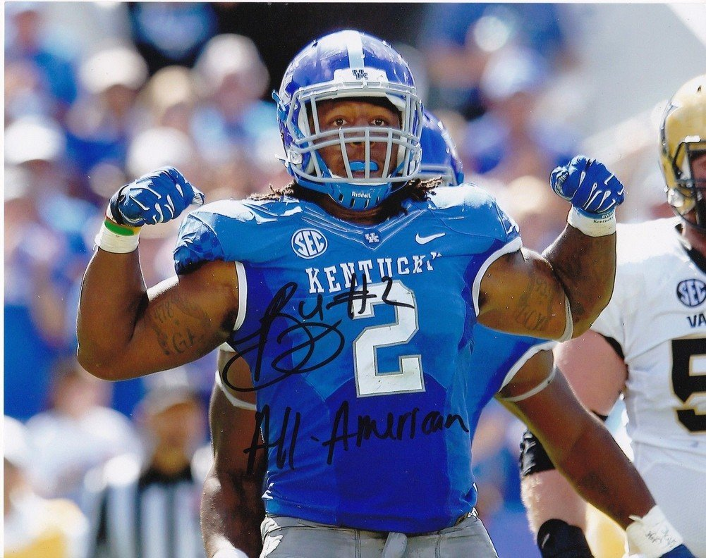 the latest f1721 2705f Bud Dupree Kentucky Wildcats Action Signed Autographed 8x10 ...