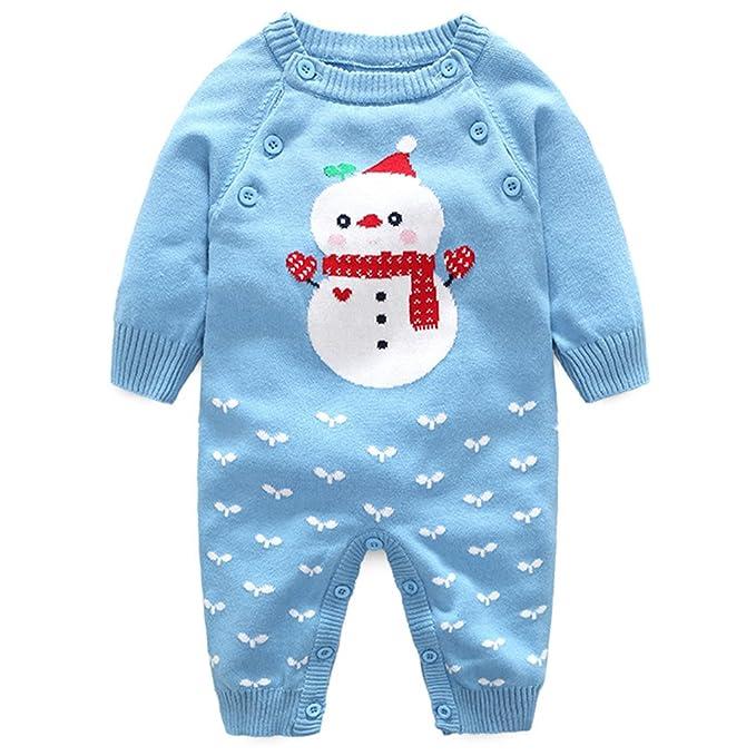 Minizone Bebé Peleles Suéter Sweater Recién Nacido Mameluco Infante Navidad Tuta Outfits: Amazon.es: Ropa y accesorios