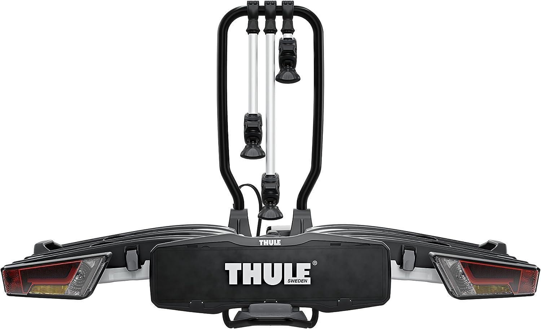 Thule EasyFold XT 3, Portabicicletas para bola de remolque totalmente plegable, compacto, para todo tipo de bicicletas.