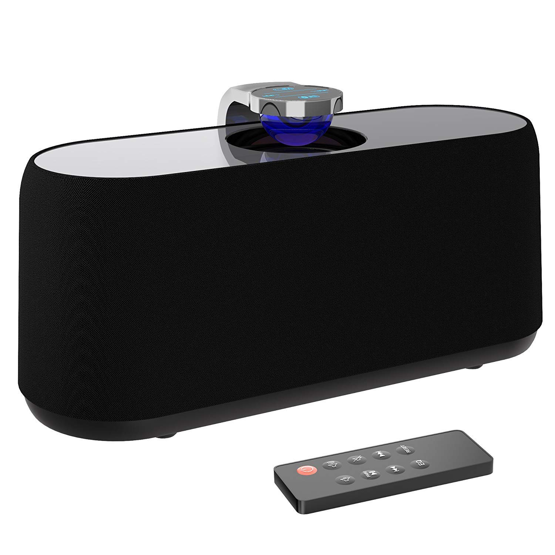 BYZ Bluetoothスピーカー 有線ホームオーディオBluetoothスピーカー 重低音ステレオスピーカー デジタルホームシアターパワーサブウーファー ブラック   B07LC89RKP
