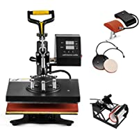 "SmarketBuy 5 in 1 Digital MultifunctionalHeat Press Machine 12"" x 10"" Heat Transfer Machine for T Shirts Hat Mug Cap Plate (5in1)"