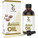 NATURA PUR Aceite de Argán Orgánico 120 ml - 100% Bio, Prensado en Frío, Vegano - de Marruecos - Sérum Antiedad…