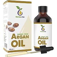 Argan Oil Puur 120ml - 100% biologisch, koudgeperst, Argan Olie veganistisch uit Marokko - Antiaging en antirimpel serum…