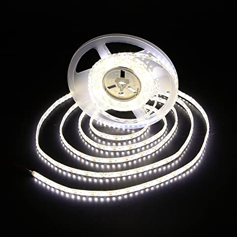 Daylight Strip Lights Amazon alilighting 12v 164 feet 5 meter ip62 waterproof led alilighting 12v 164 feet 5 meter ip62 waterproof led strip lights 4000k audiocablefo