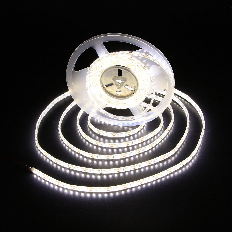 Waterproof LED Strip Lights, 4000K, 12V, 16.4 Ft, Daylight