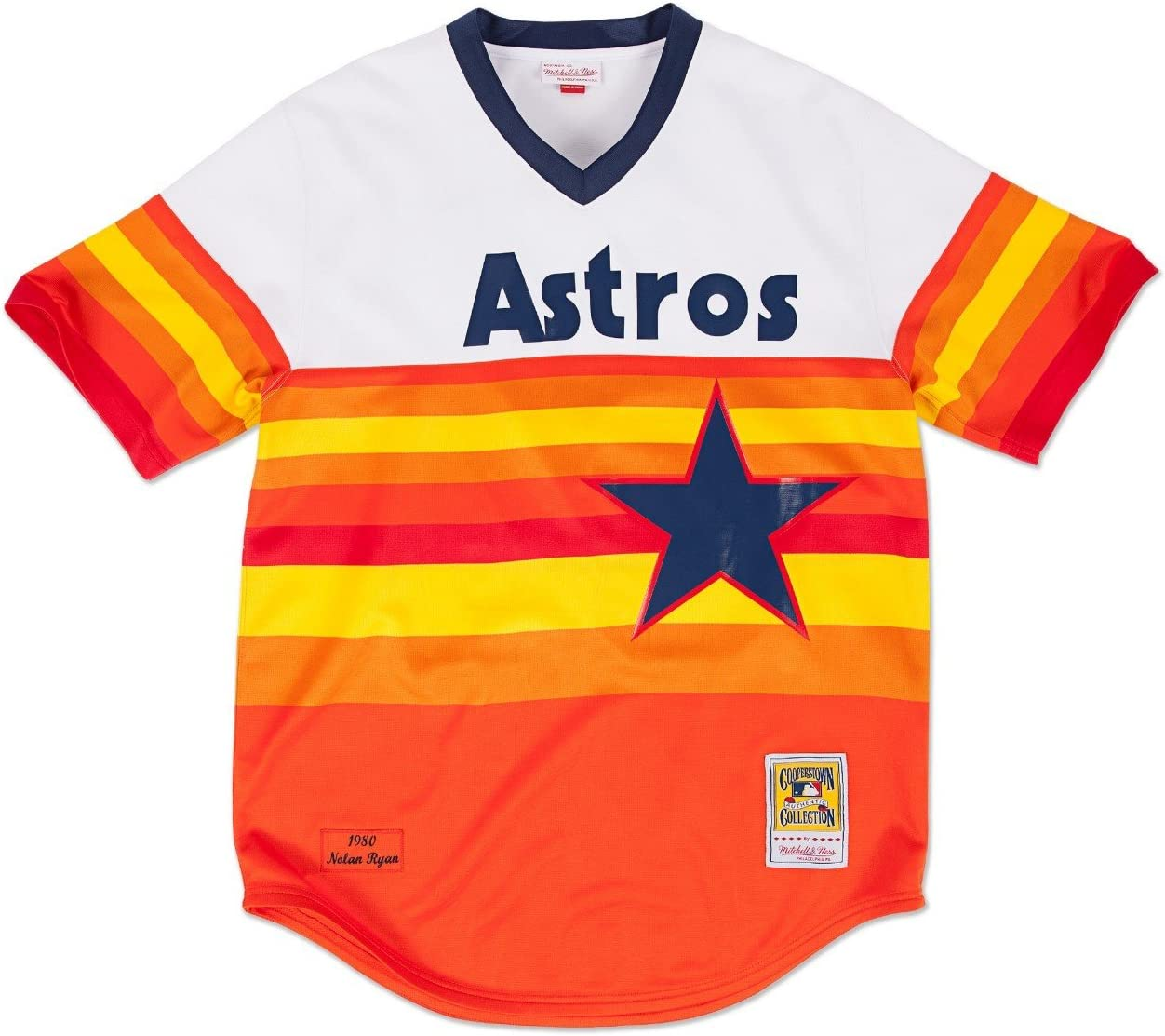 Nolan Ryan Houston Astros Mitchell & Ness Authentic MLB 1980 Sudadera Jersey Camiseta, xx-large: Amazon.es: Deportes y aire libre