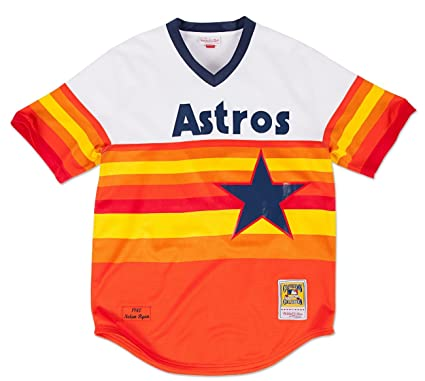c0bc1360b Nolan Ryan Houston Astros Mitchell   Ness Authentic MLB 1980 Pullover Jersey