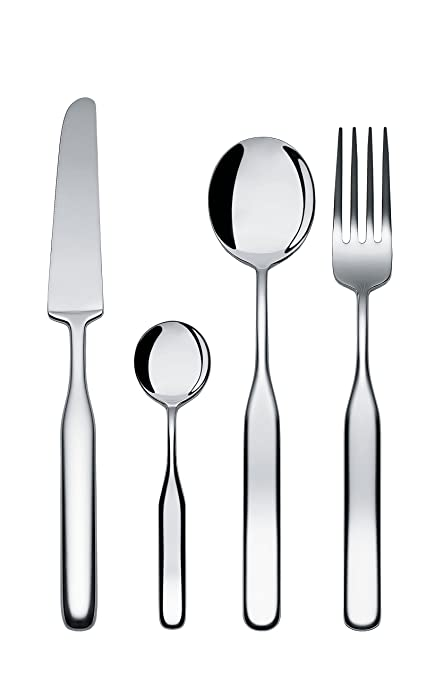 Amazon Com Alessi Collo Alto Flatware Set Of Twelve Table Spoons