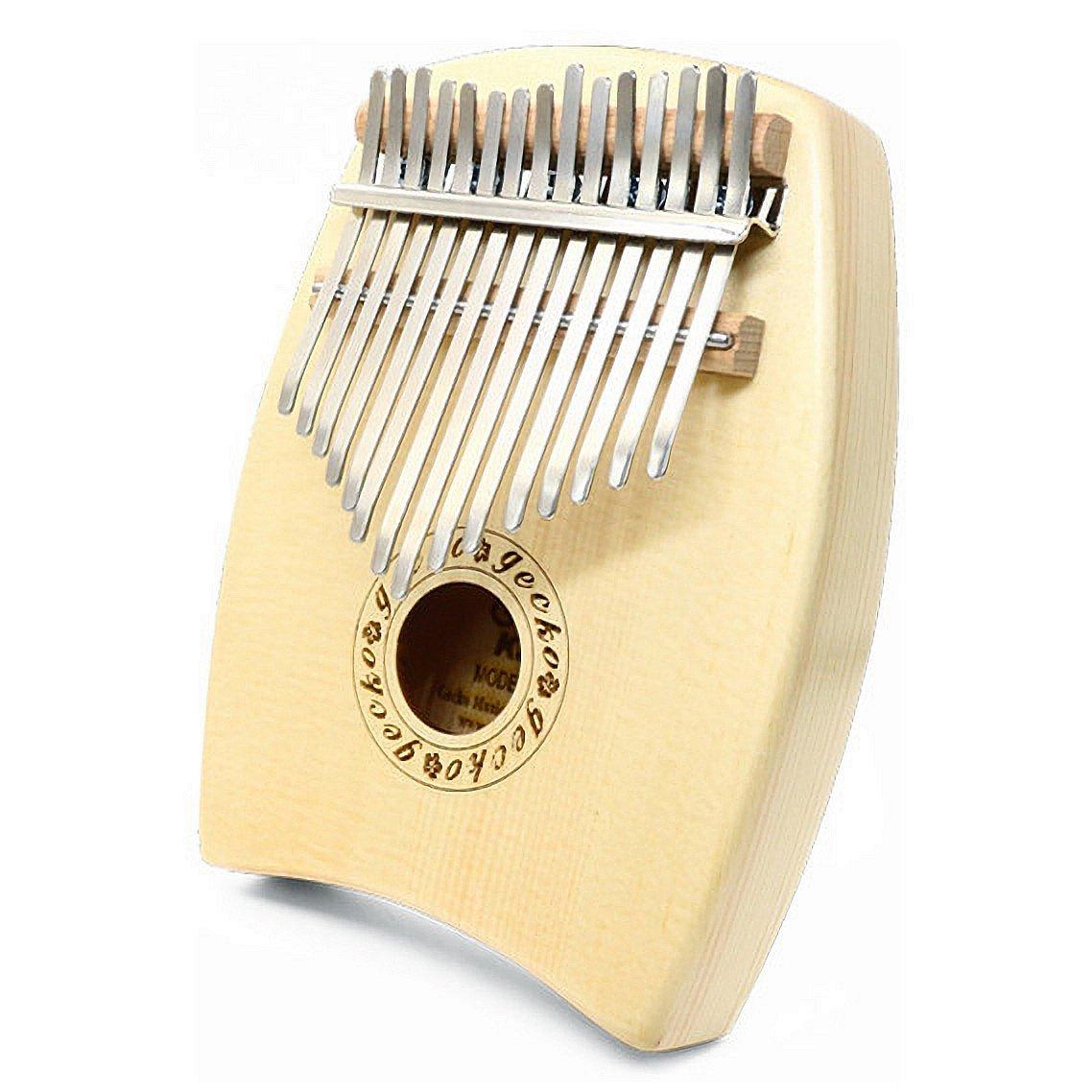 Gecko Spruce Tone Wood 15 Keys Kalimba, Acoustic Finger Thumb Piano Instrument Gift