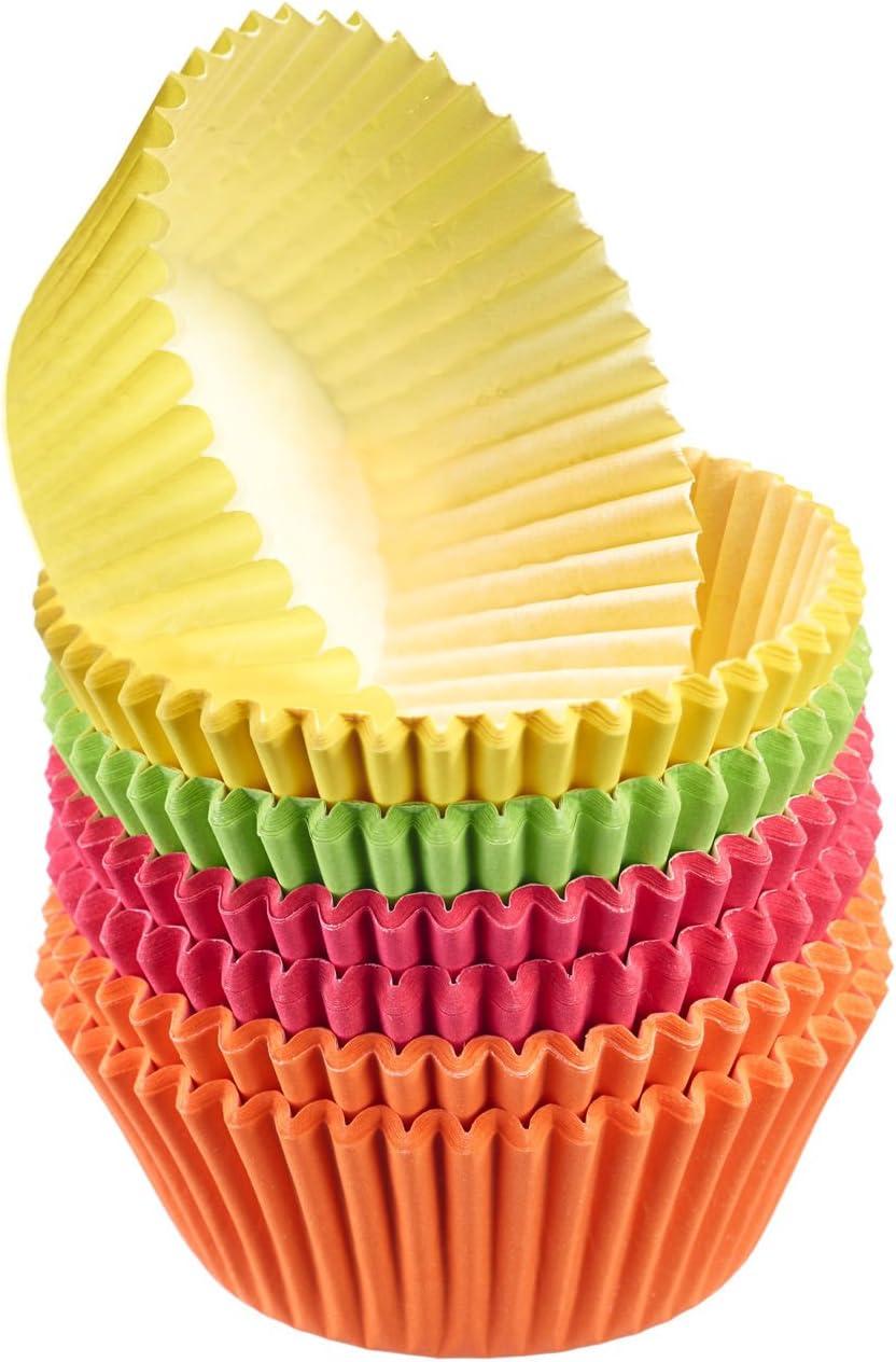 fettdicht 200 St/ück /Ø 4,5 cm Kaiser Inspiration Mini Muffin F/örmchen wei/ß ideal f/ür s/ü/ße und herzhafte Muffins