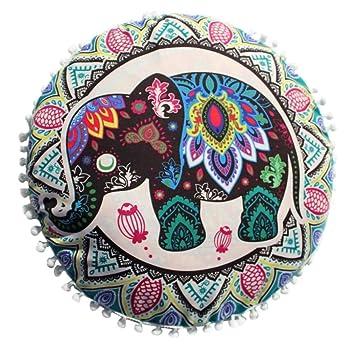 Viahwyt Funda para cojín de meditación, diseño de elefante ...