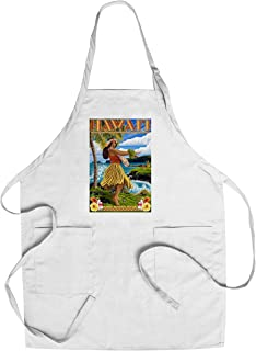 product image for Hawaii - Hula Girl on Coast - Merrie Monarch Festival (Cotton/Polyester Chef's Apron)